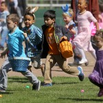 The annual Easter egg hunt for tots at Howarth Park on Saturday, April 4, 2015. This year's event will be held on Saturday, March 26. (Photo by John Burgess)